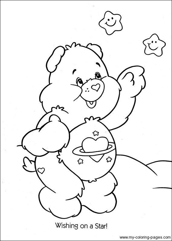 coloring pages carealot - photo#7