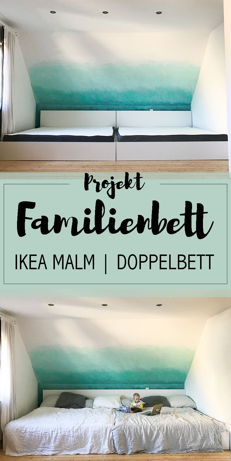 Schon Familienbett Hack XXL Familienbett Doppelbett Ikea MALM Tricks Tipps Fazit  Emma Matratze Weißes Bett Modern Scandi