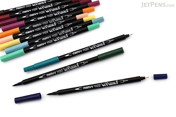 Marvy le plume ii double sided watercolor marker color set