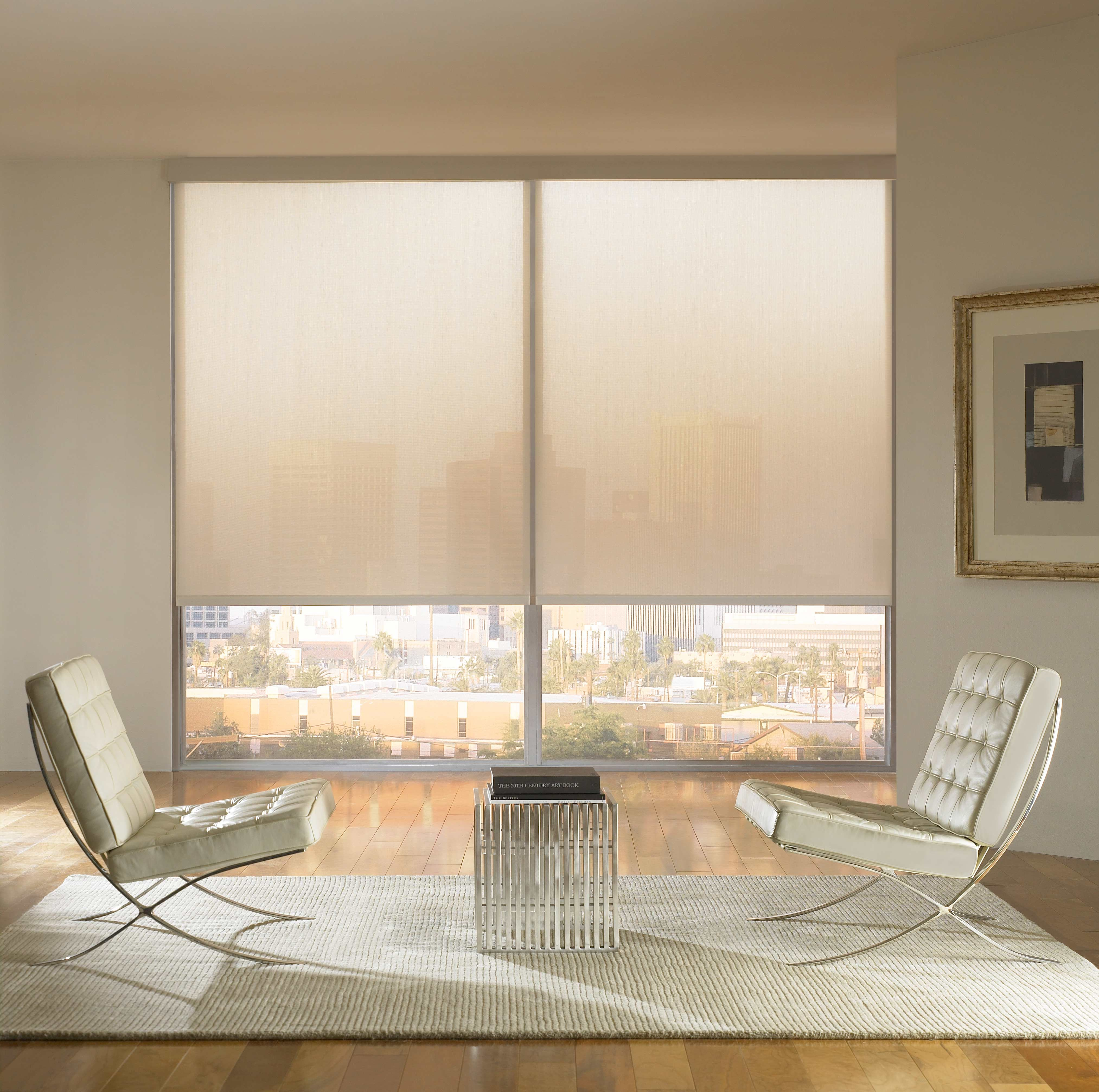 Motorized shades help set the right mood in your condo for Motorized solar shades for windows