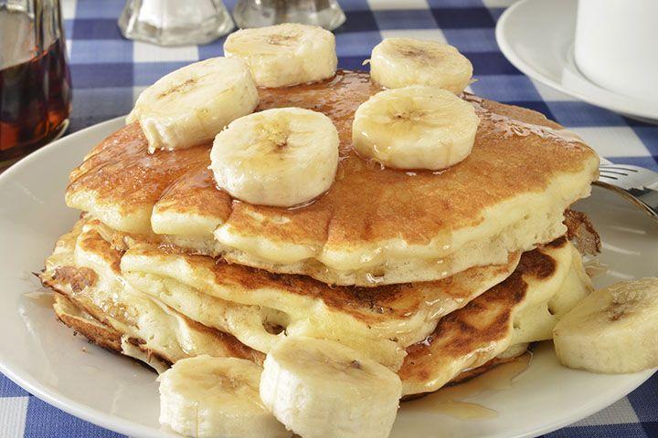 Banana Cinnamon Protein Powder Pancakes