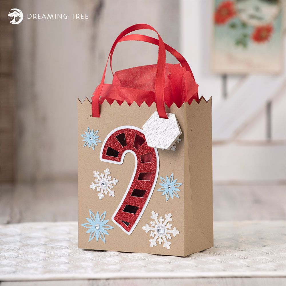 Candy Cane Bag (Free SVG) in 2020 Christmas svg files