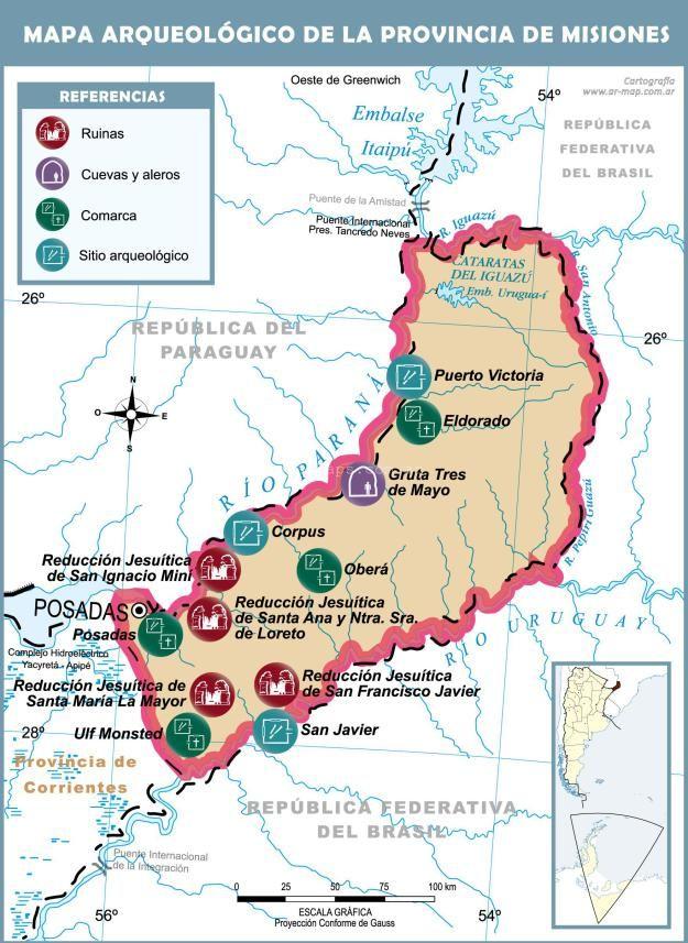 Mapa De Misiones ArqueológicoMás Información Httpmapamaps - Argentina misiones map
