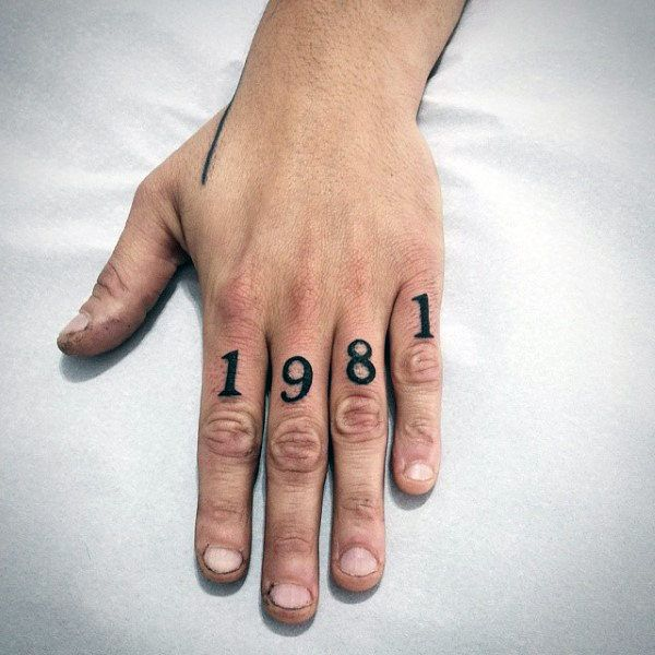 Top 63 Number Tattoo Ideas [2020 Inspiration Guide