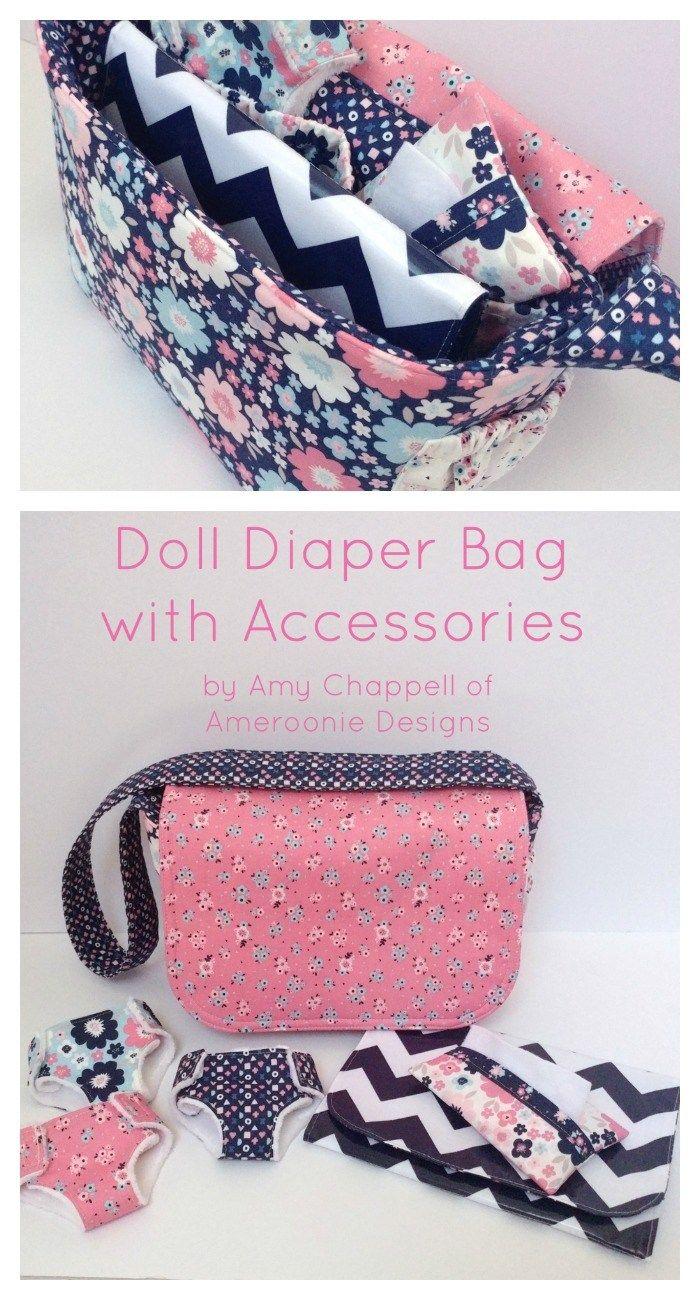 Doll Diaper Bag + Accessories Tutorial #dollaccessories