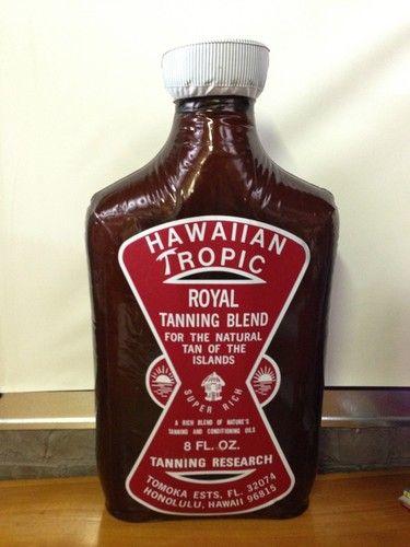 "Hawaiian Tropic Royal Tanning Super Large Inflatable Display 28"" Tall"