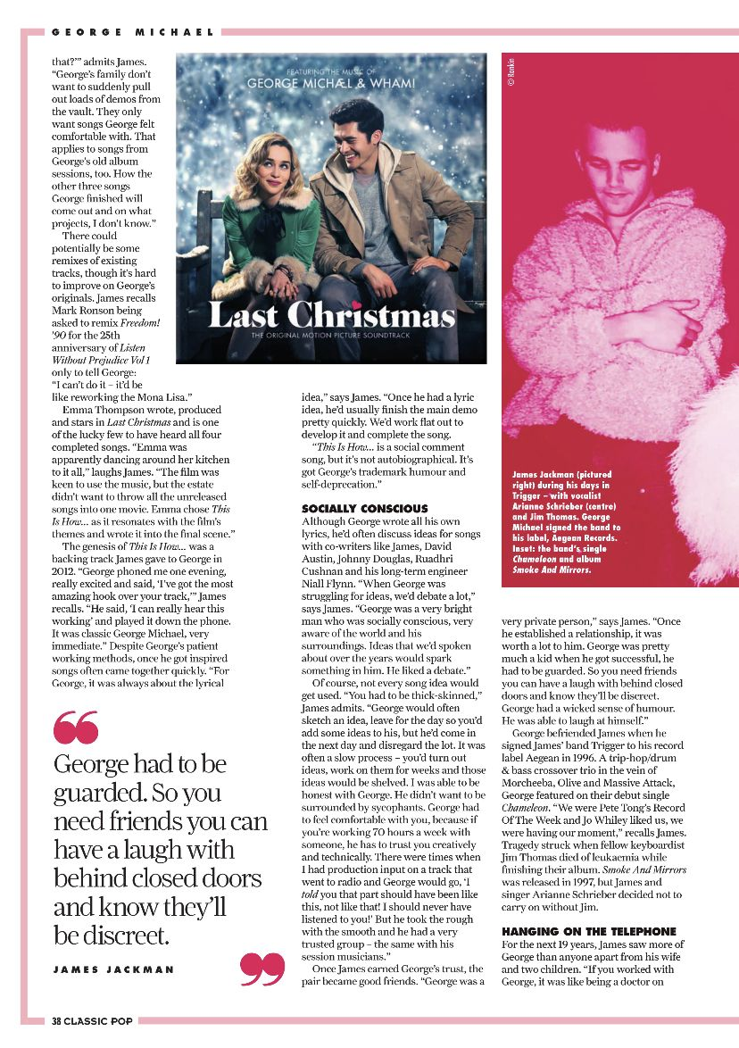 Article from Classic Pop Magazine December 2019