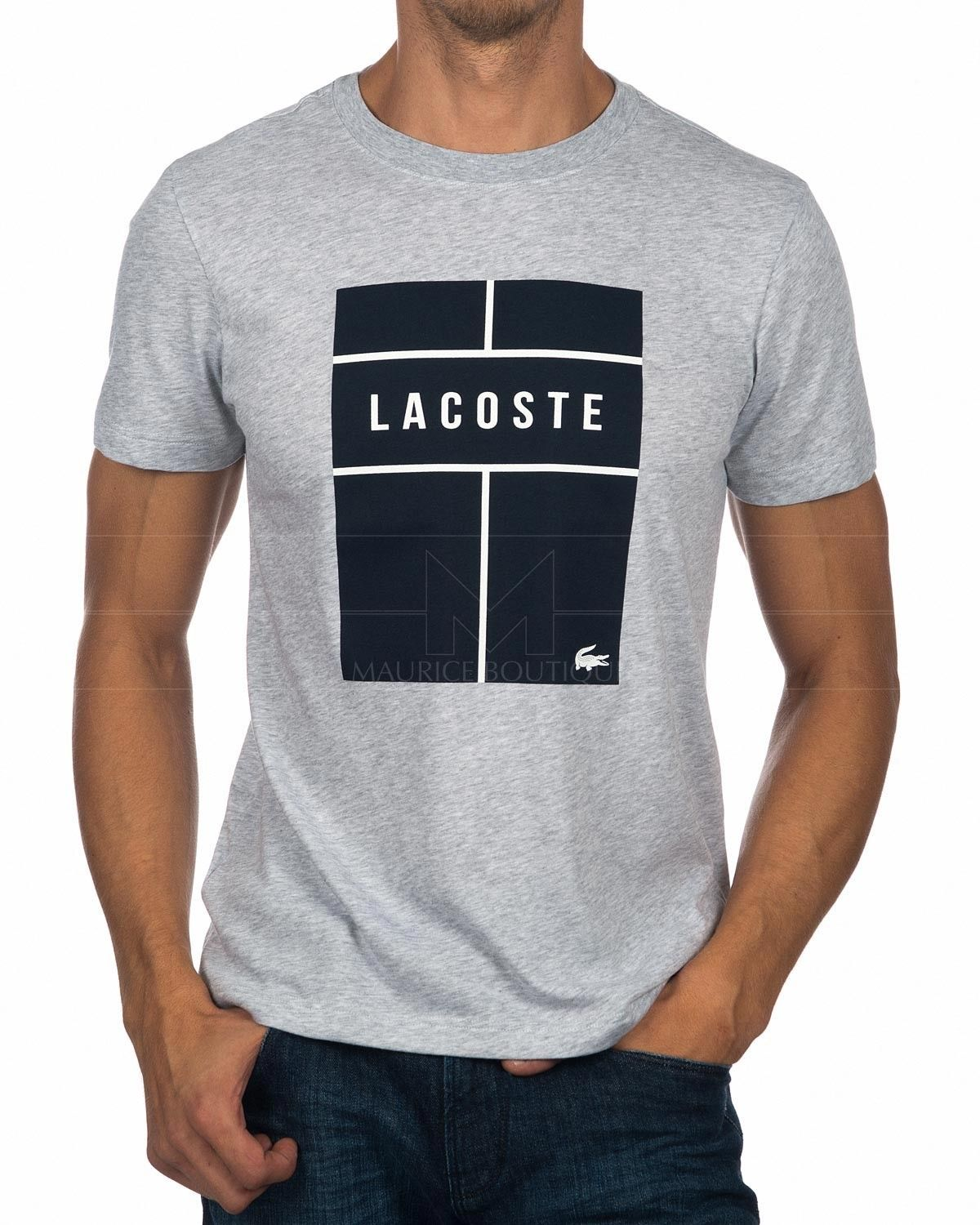 200773dcf Lacoste T Shirt - Grey   Navy in 2019