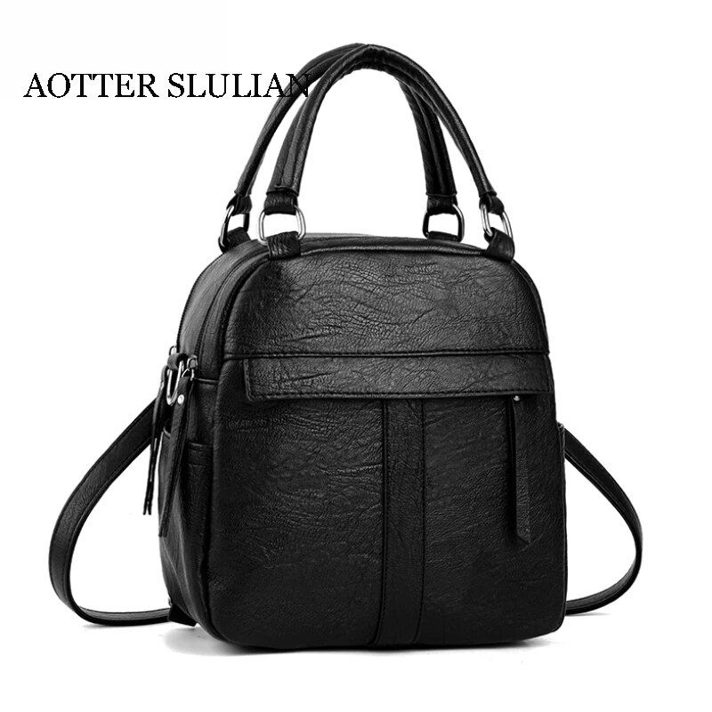 #fashion #leather #large #capacity #soft #rucksack #ladies #back #packs #women #teens #casual #backpacks #desingers #top #travel #school #bags