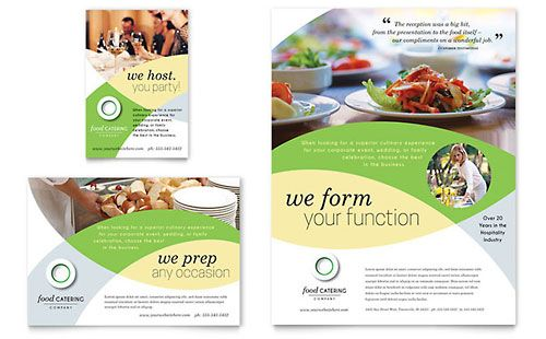 food catering flyer ad template design catering concept