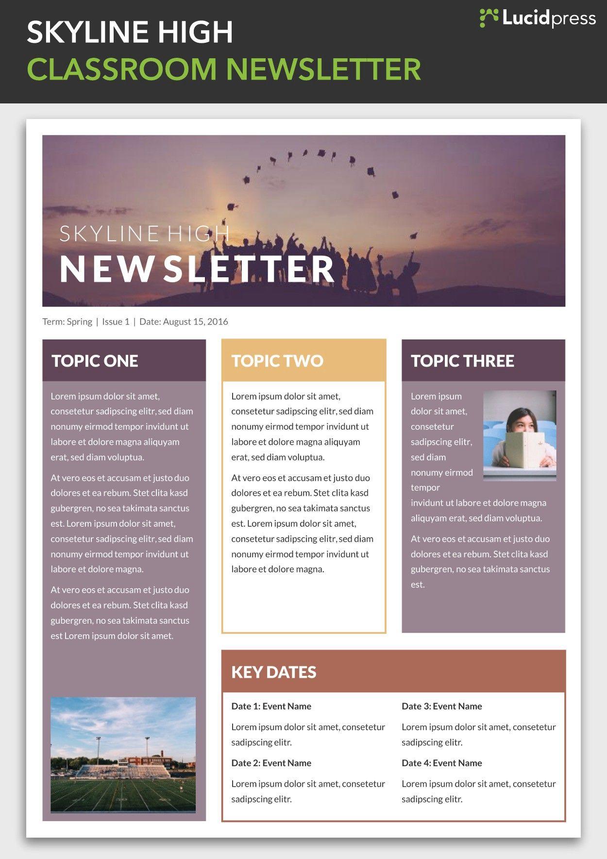 13 Best Newsletter Design Ideas Choosing The Right Newsletter Design By L Classroom Newsletter Template School Newsletter Template Newsletter Template Free