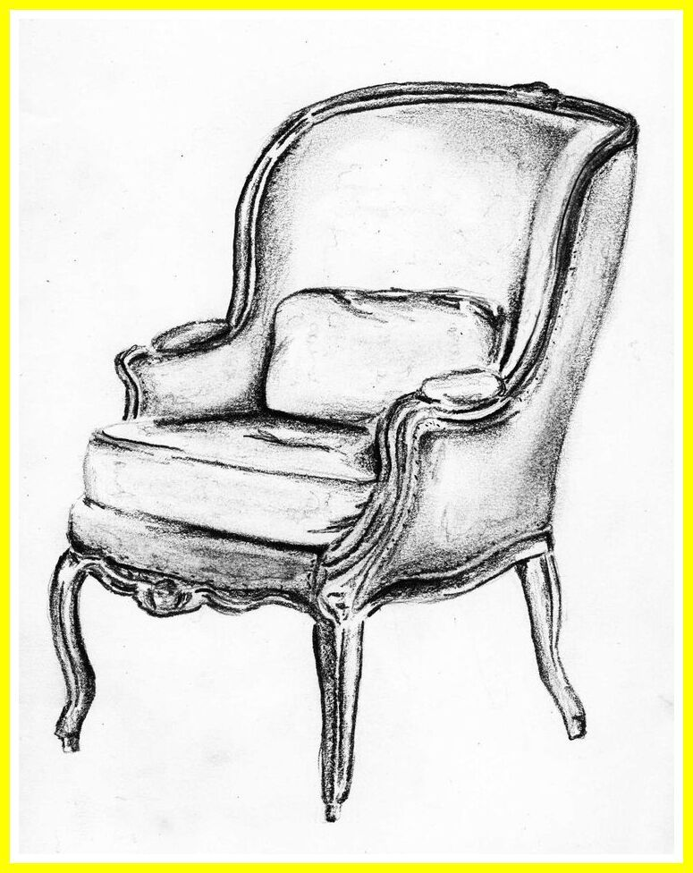 110 Reference Of Comfy Chair Drawing In 2020 Chair Drawing Drawing Furniture Sketches