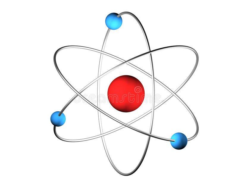 3D Atom 3D illustration of an science symbol