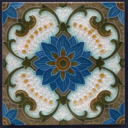 Cool 1 X 1 Acoustic Ceiling Tiles Thin 12 X 12 Ceramic Tile Regular 12X12 Ceiling Tile Replacement 12X12 Peel And Stick Floor Tile Old 18X18 Floor Tile Patterns Red2 Inch Hexagon Floor Tile Majolica Art Nouveau Tile 419x421 | Floor | Pinterest | Art ..