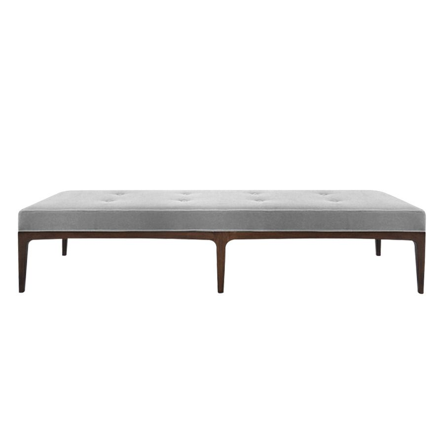 Super Extra Long Paul Mccobb Style Bench In Grey Mohair Master Unemploymentrelief Wooden Chair Designs For Living Room Unemploymentrelieforg