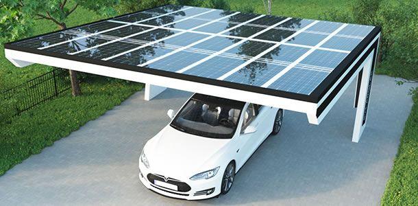 Mit Der Sonne Um Die Wette Lachen Solardachziegel Carport Carport Dach