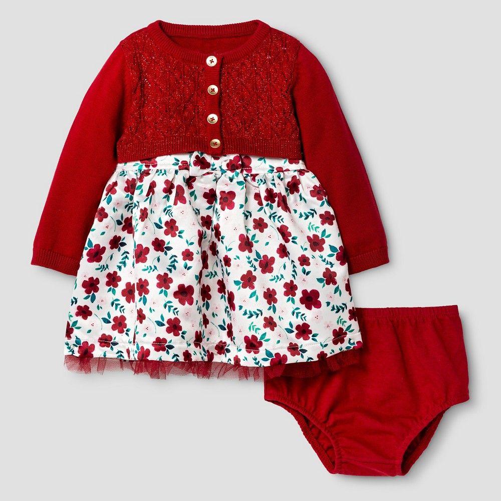 eb13aa5b9b06 Baby Girls  Satin Dress and Cropped Cardigan Set Baby Cat   Jack ...