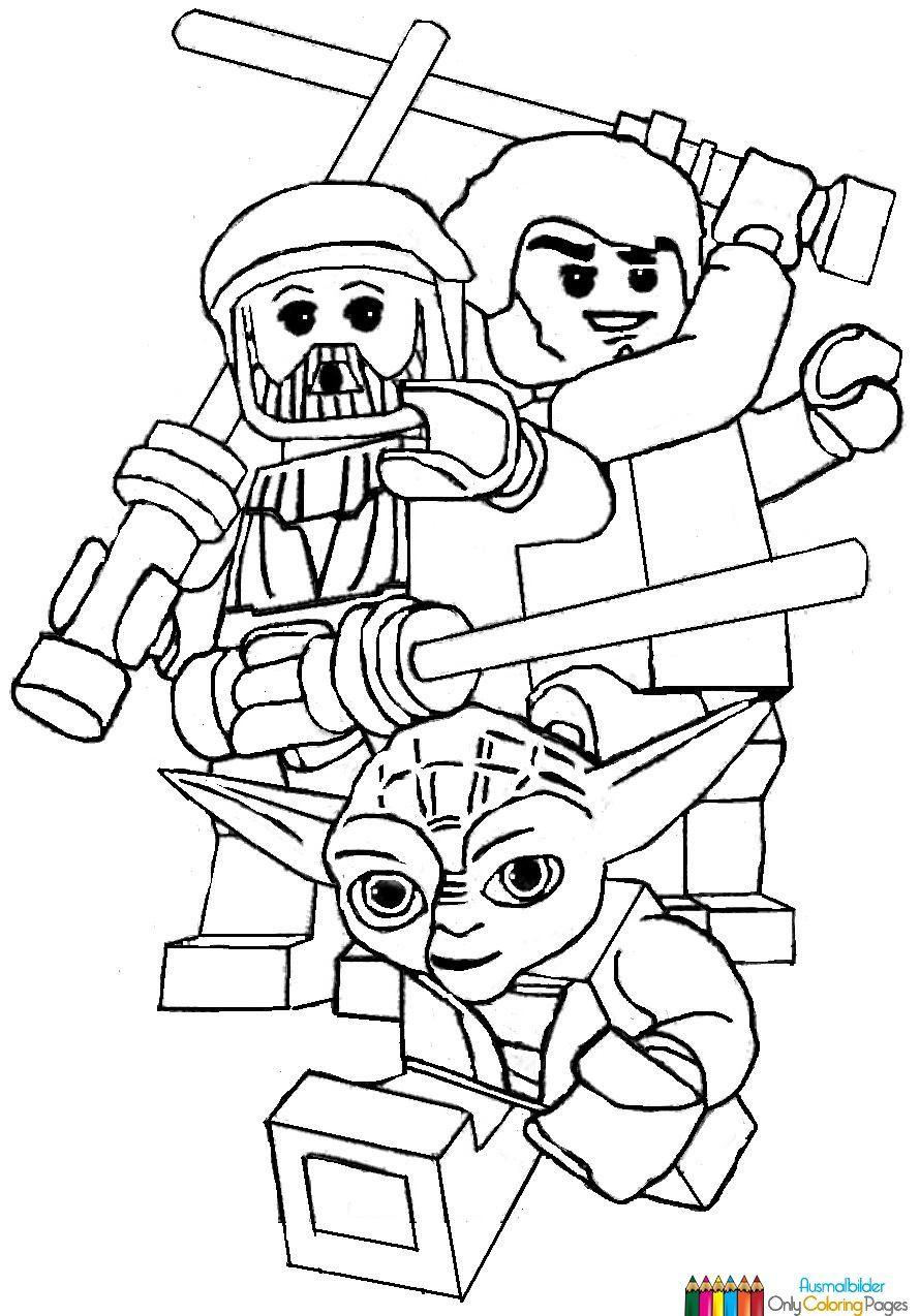 ausmalbilder lego star wars | ausmalbilder | Pinterest | Lego ninjago