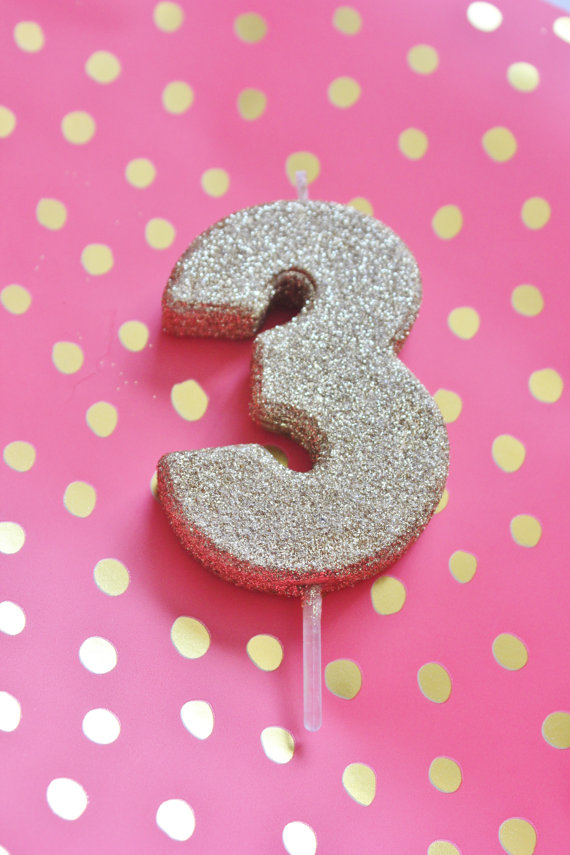 GLITTER GOLD CANDLE Number Numeric Birthday Candles 1st 2nd 3rd 4th 5th 6th 7th 8th Kids Gl