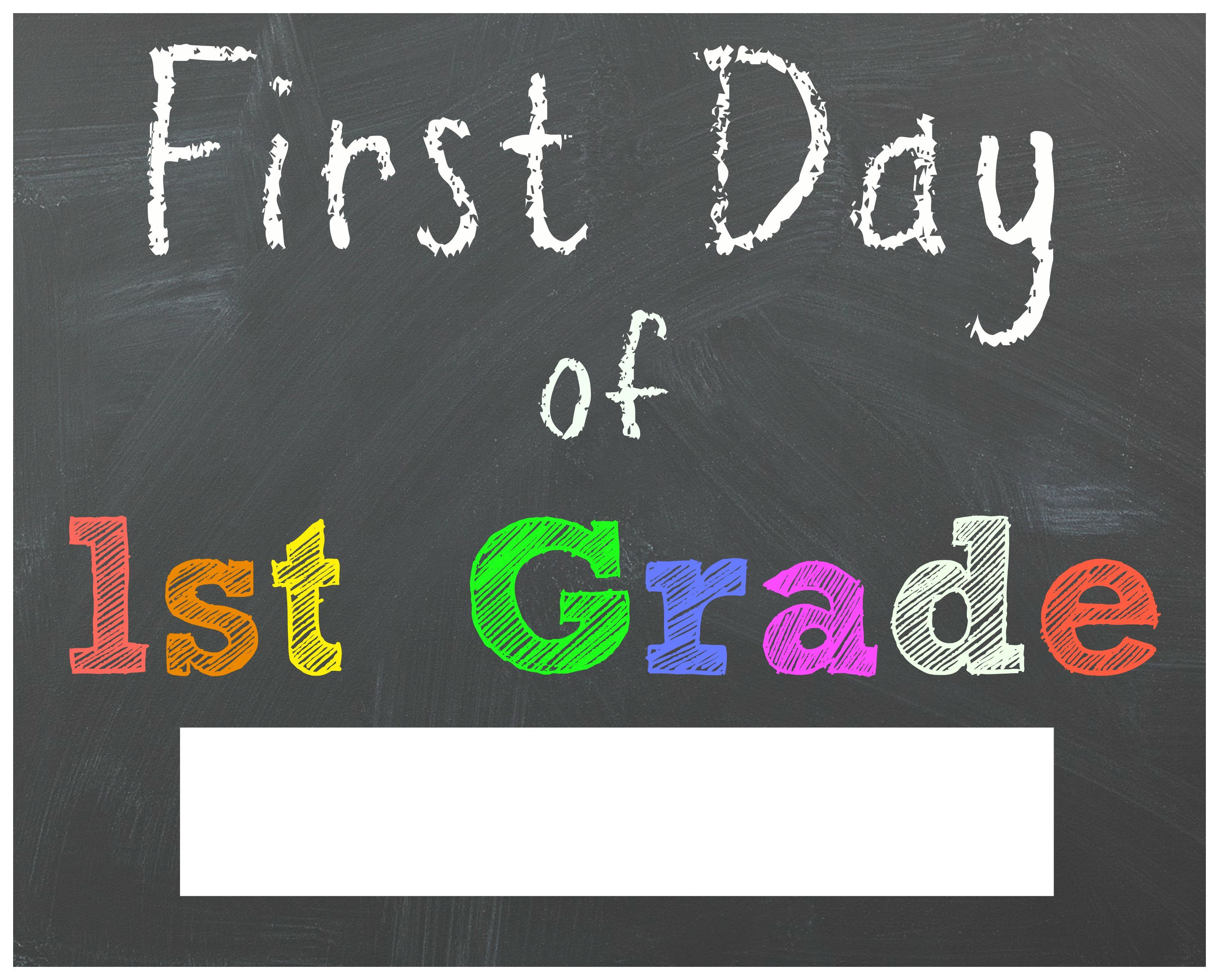 photo relating to First Day of 1st Grade Printable Sign titled Pin by way of Marilyn Sanchez upon Boy or girl things Faculty chalkboard
