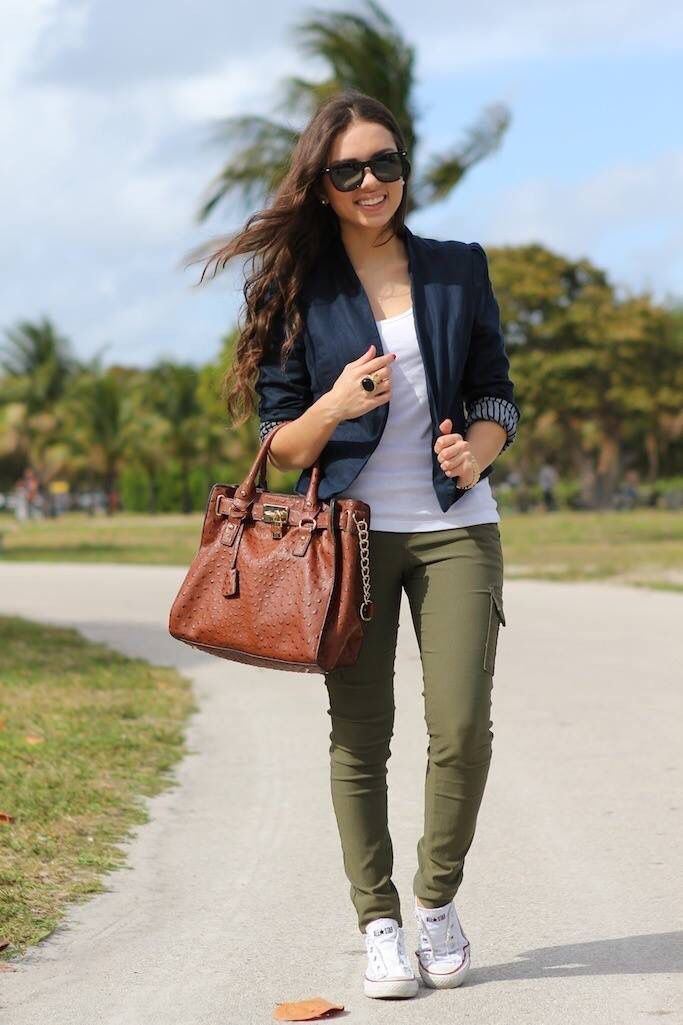 stunning outfit tenis verdes mujer 2017