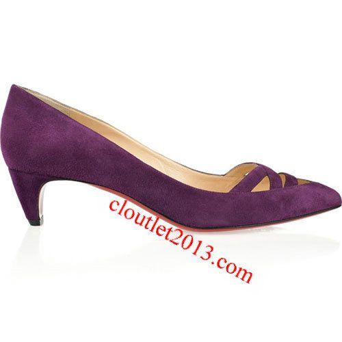 discount christian louboutin manue 45mm velvet kitten heel pumps i rh pinterest ch