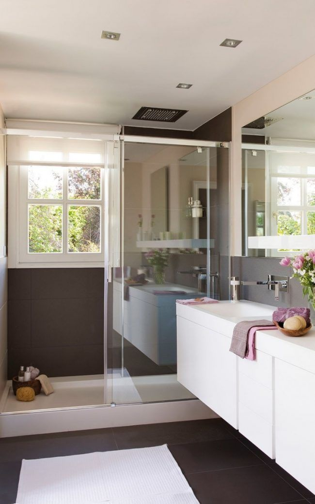 moderne Badgestaltung walk in dusche glas gleittuer mit ...