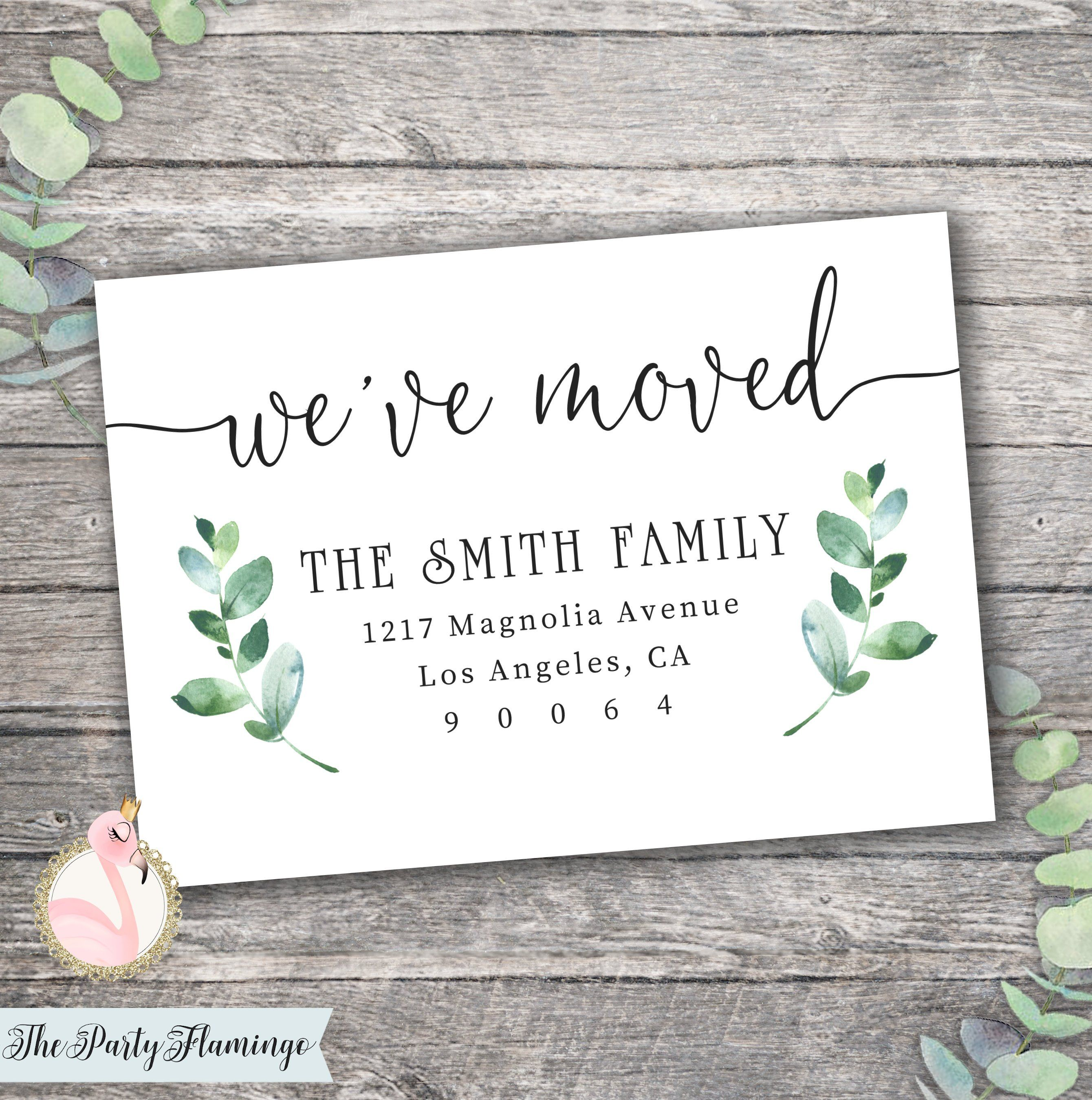 new home announcement laurel moving announcement house warming party farm house moving announcement modern