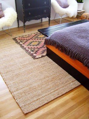 Jute Rug From Ikea Layered W Kilim For The Nest Rugs