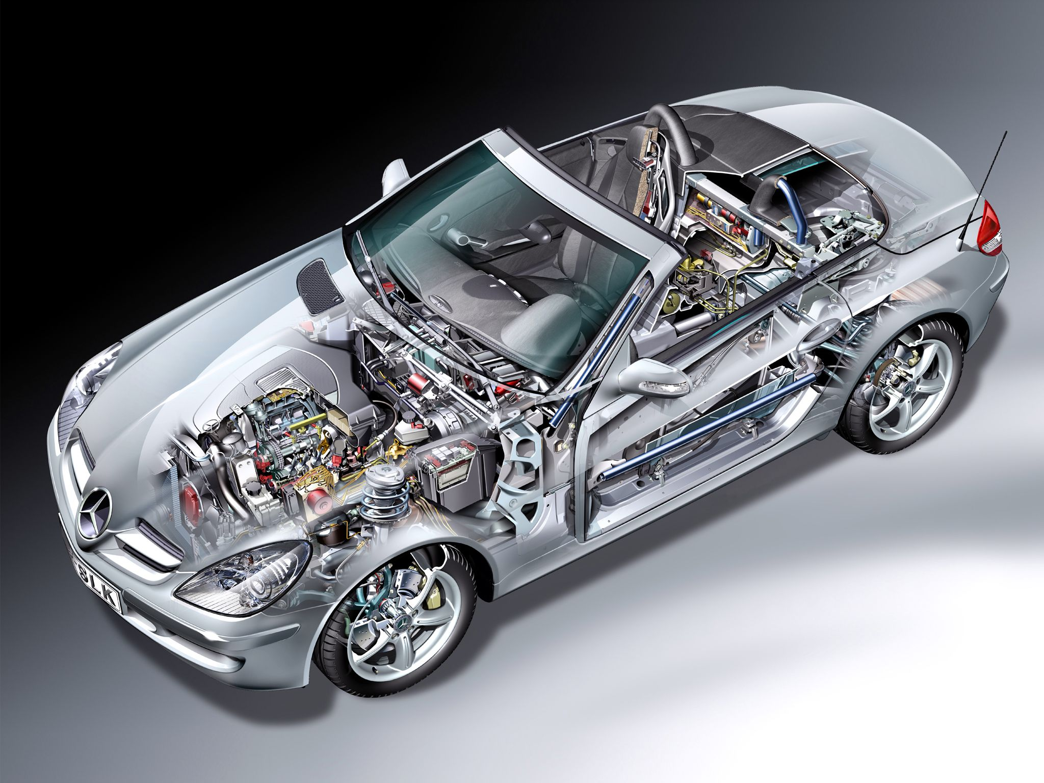2004-2008 Mercedes-Benz SLK 55 AMG (R171) - Illustration unattributed