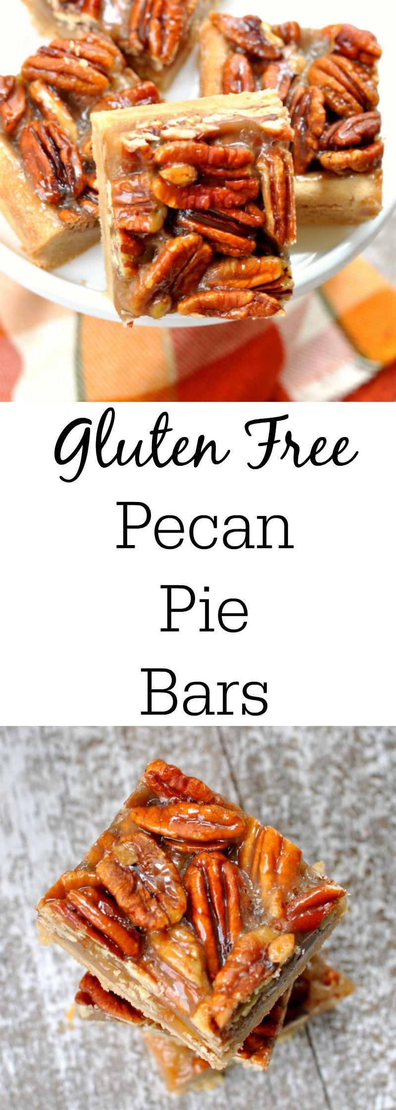 Gluten Free Pecan Pie Bars - The Best Pecan Pie Recipe Around!