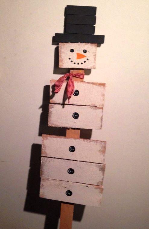 hoember.jpg7 | Сделай сам | Pinterest | Snowman, Pallets and Craft