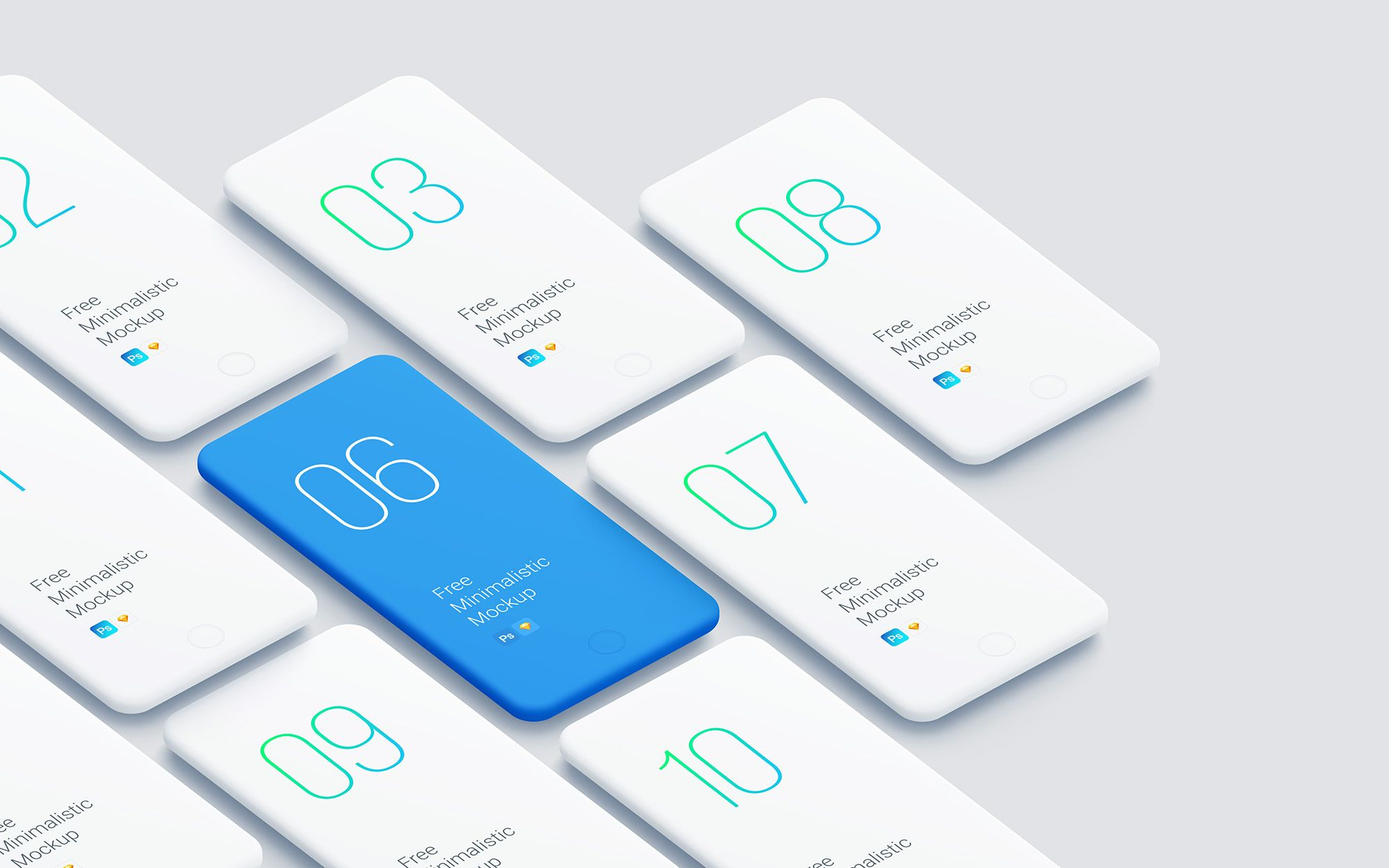 Today S Freebie Is A New Set Of Smartphone Clay Mockups For Showcasing Apps And Mobile Website Designs Mockups Come Phone Mockup Iphone Mockup Phone Template