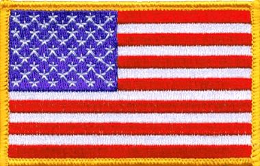 Jacket Inspriation Custom Embroidered Patches American Flag Patch Flag Patches