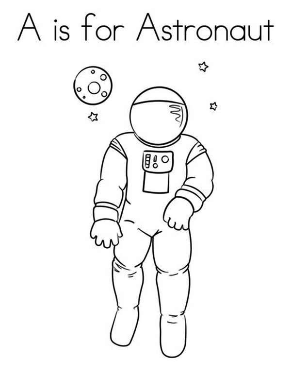 Learn Letter A For Astronaut Coloring Page Buchstaben Lernen
