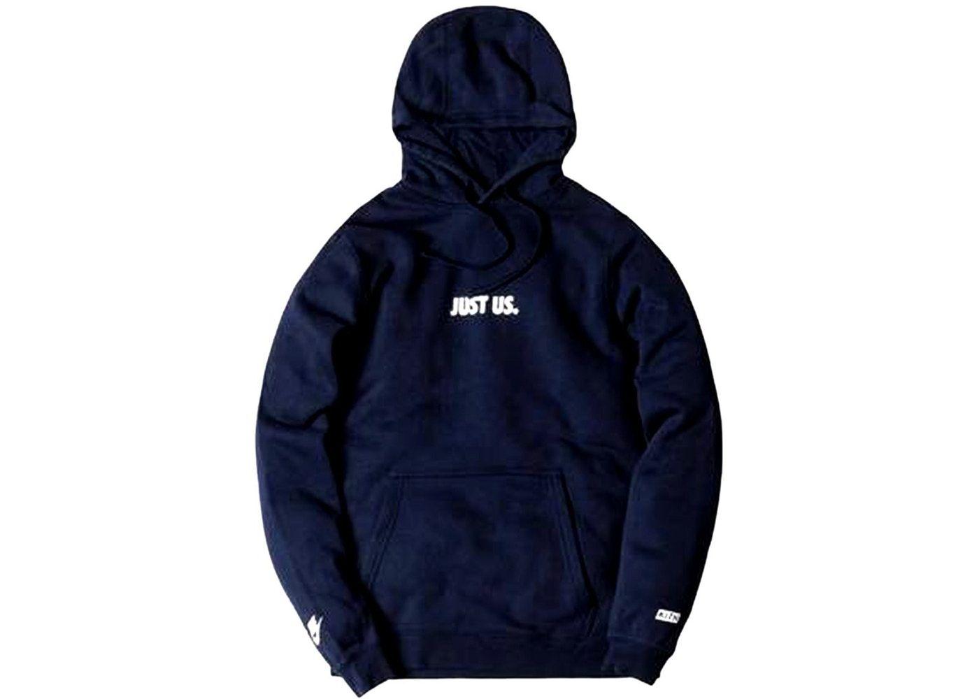 Kith Nike Just Us Hoodie Navy Nike Hoodies Nike Jacket [ 1000 x 1400 Pixel ]