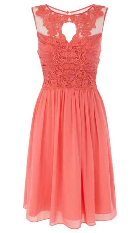 Coast Lattie Peach Dress Wedding Guest Outfit Or Casual