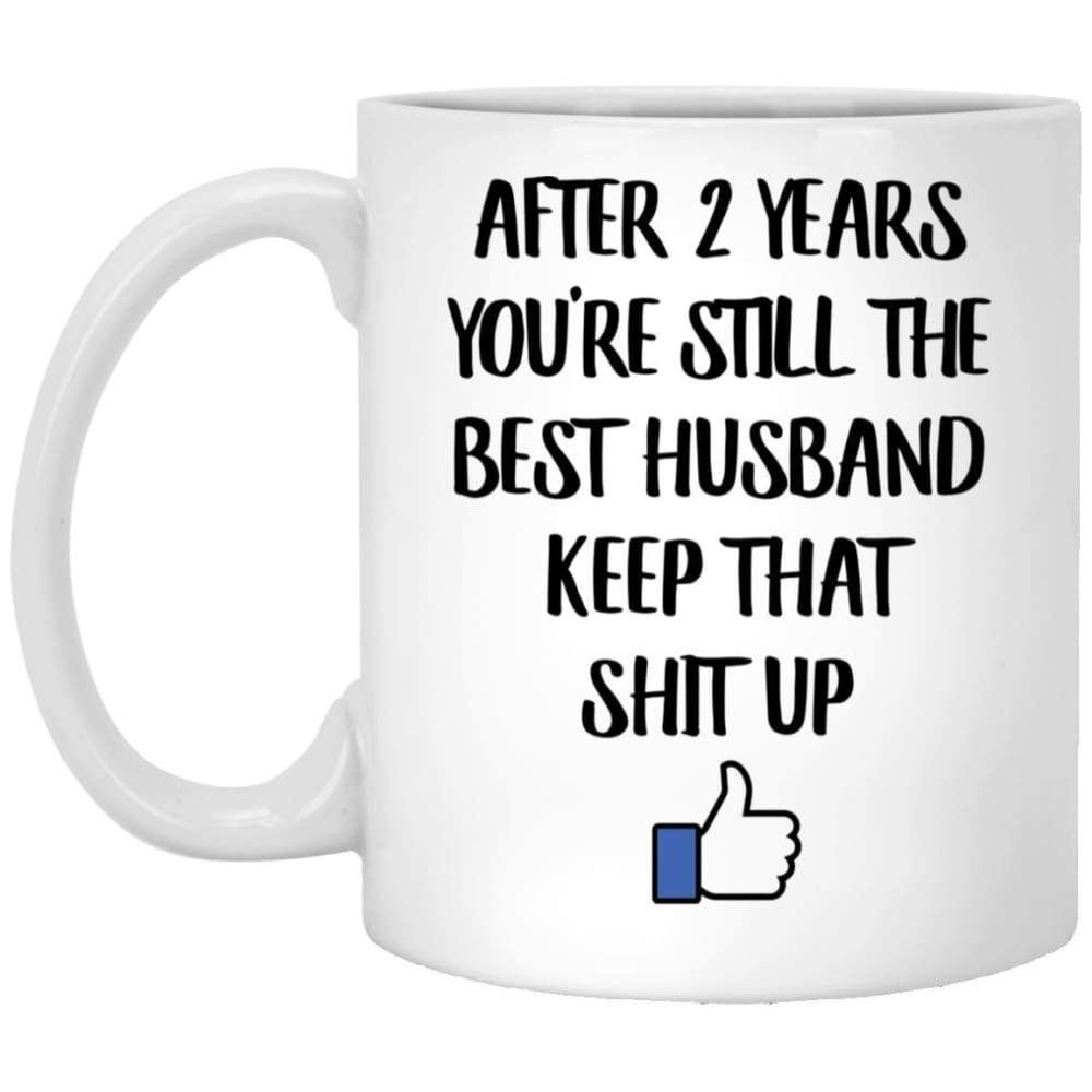 2 year anniversary gifts for him mug with images cat
