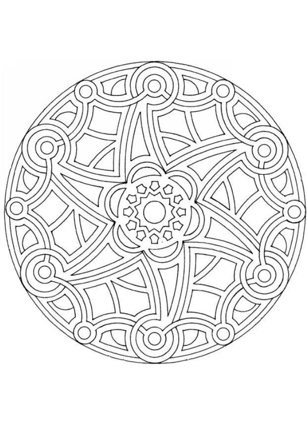 mandala coloring pages - Art Therapy Coloring Pages Mandala
