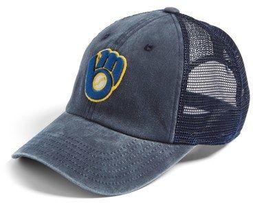 cf750f28 American Needle 'Milwaukee Brewers - Raglan Bones' Mesh Trucker Cap ...