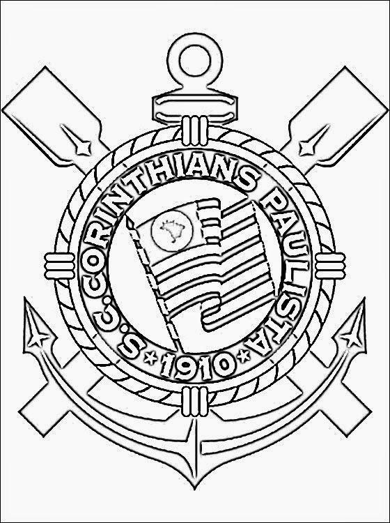 Corinthians Futebol Clube Desenhos Para Colorir Corinthians