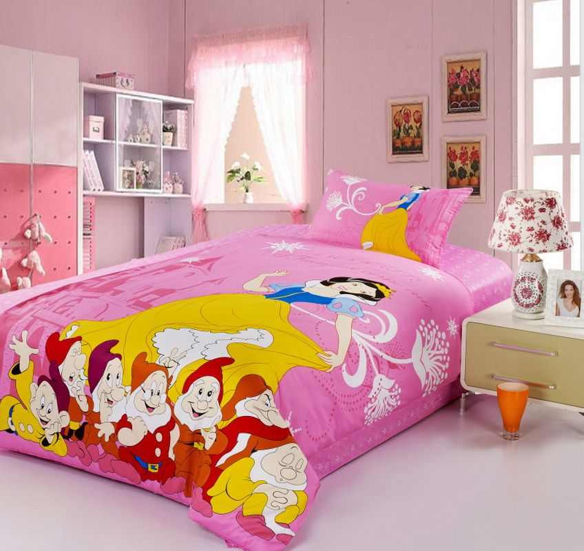 Snow White Pink Disney Bedding Sets disney beds Pinterest