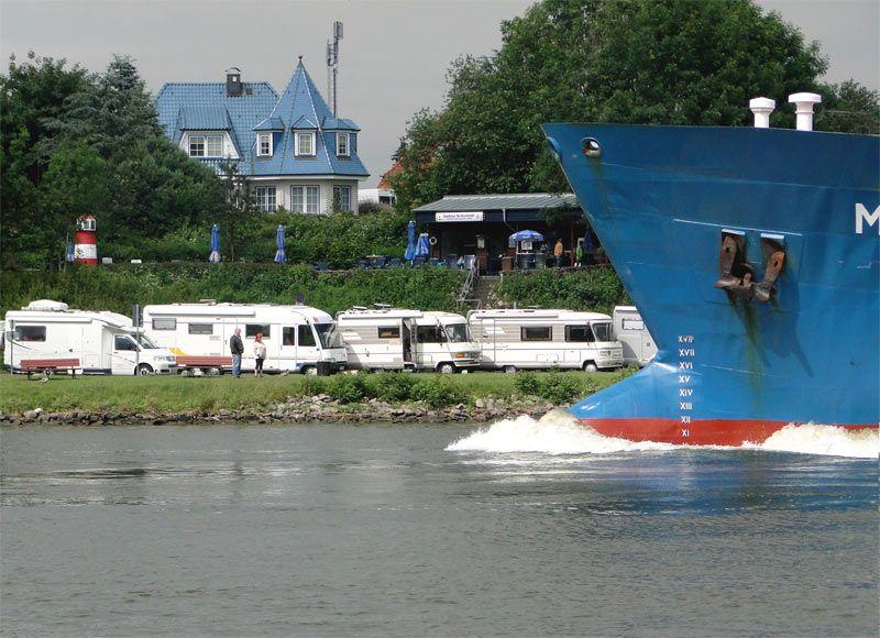 Wohnmobilstellplatz direkt am Nord-Ostsee-Kanal in Sehestedt