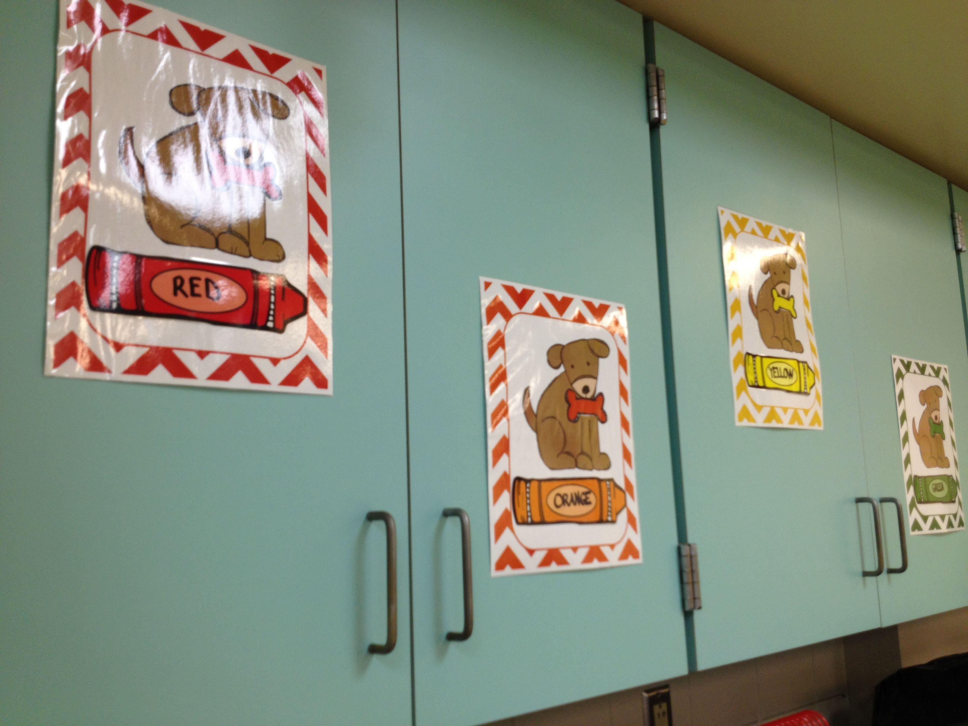 Dog Theme Classroom Colors