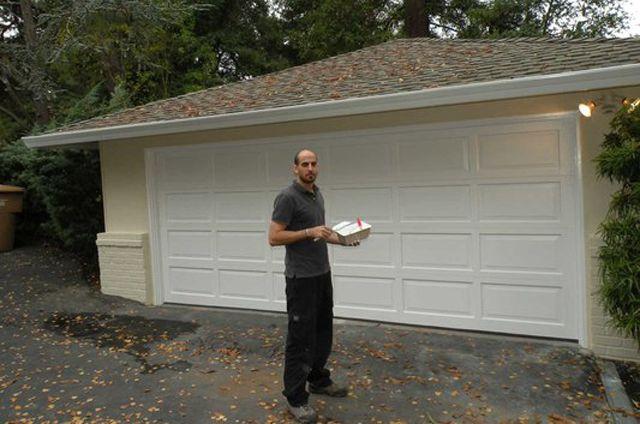 Overhead garage door Converted from sliding to sectional ... on Overhead Garage Door Spring Replacement  id=48100