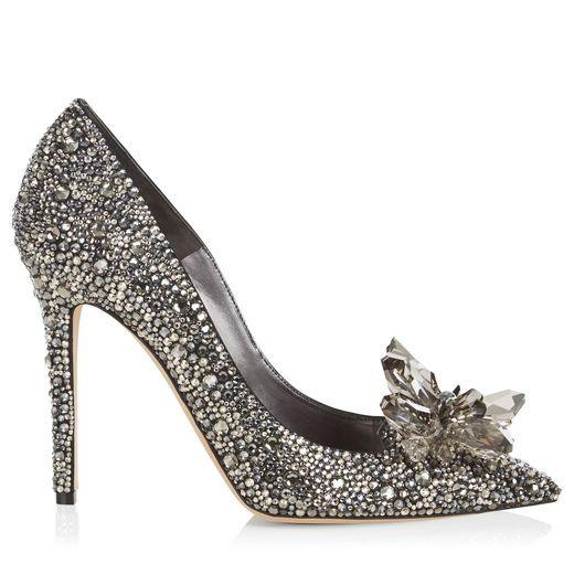 4ccae545fa3 JIMMY CHOO Ari Black Crystal Covered Pointy Toe Pump.  jimmychoo  shoes  s
