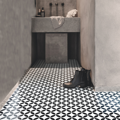 victorian tile effect sheet vinyl flooring cushioned lino