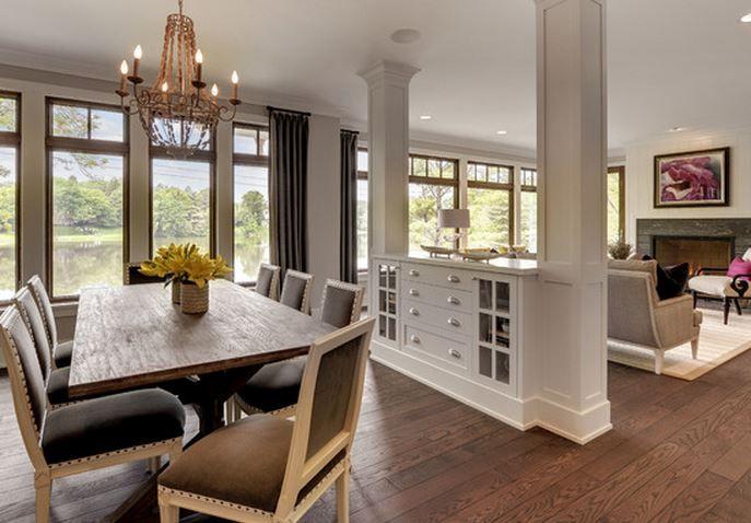 Id es d co salon salle manger d coration int rieure living room divider room divider - Decoration salon moderne salle a manger ...