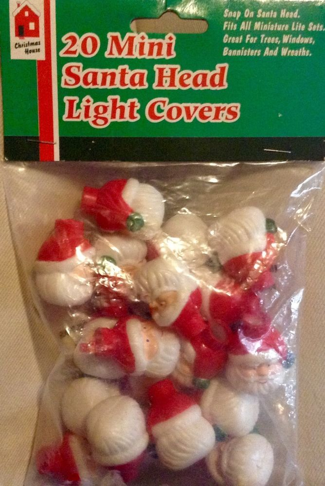 santa head christmas light covers 20 mini christmas ornaments christmashouse