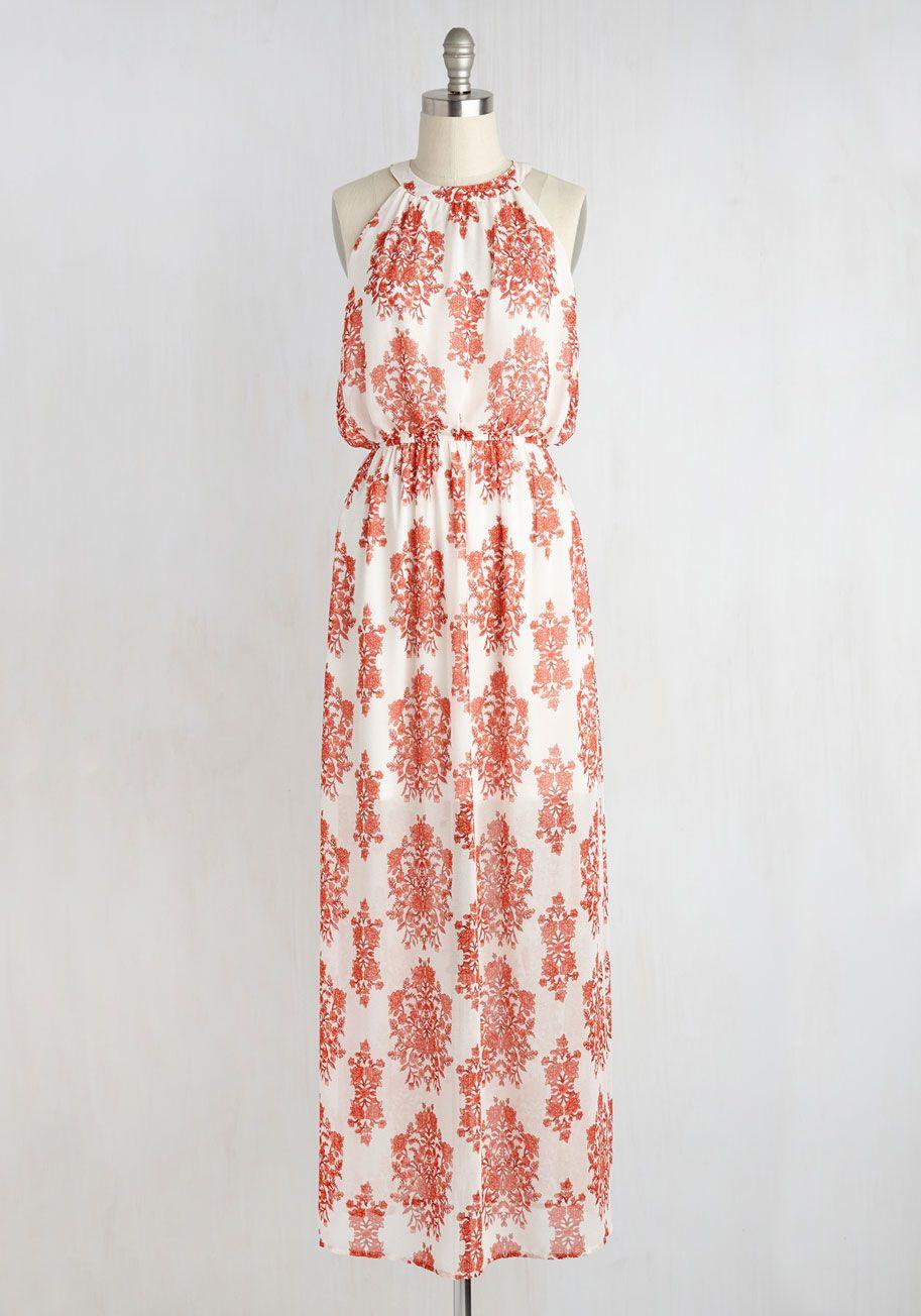 Dresses - Between Me and Utopia Dress in Orange Bouquets   Stuff I ...